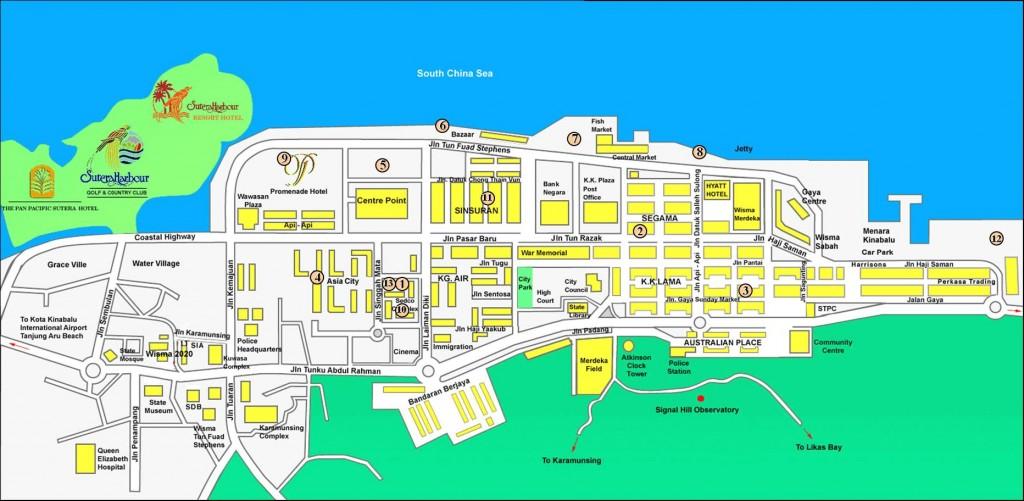 map kota kinabalu